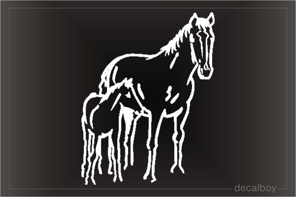 Baby Horse Car Window Decal
