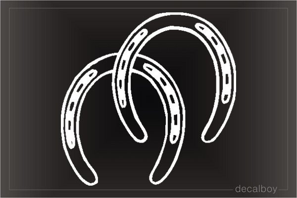 Horseshoes Car Window Decal