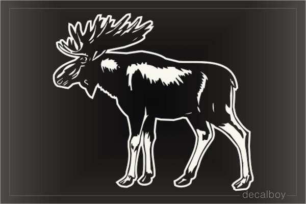 Moose Window Decal