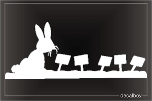 Rabbit 2 Window Decal