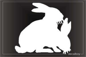 Rabbit 3 Window Decal