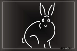 Rabbit 4 Window Decal