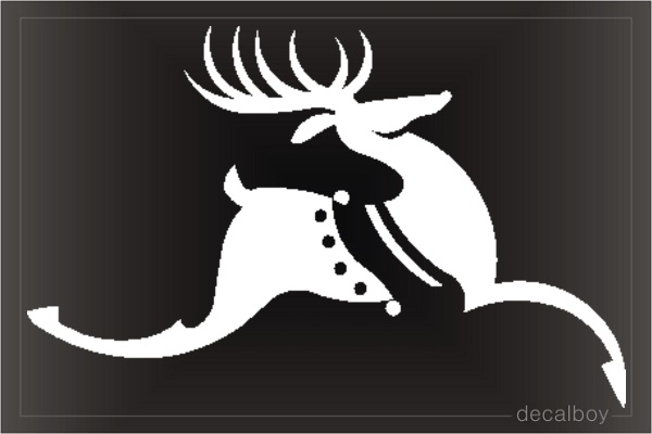 Deer Running Window Decal