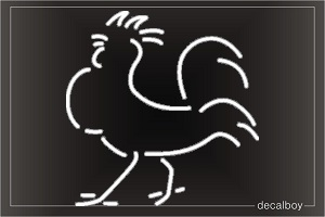Rooster 2 Window Decal
