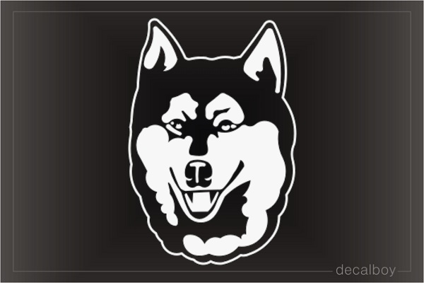 Wolf Face 2 Window Decal