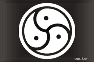 Bdsm Symbol Sign Car Decal
