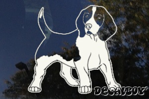 Beagle Car Window Decal