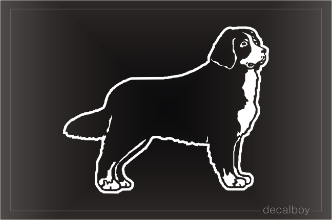 Bernese Mountain Car Window Decal