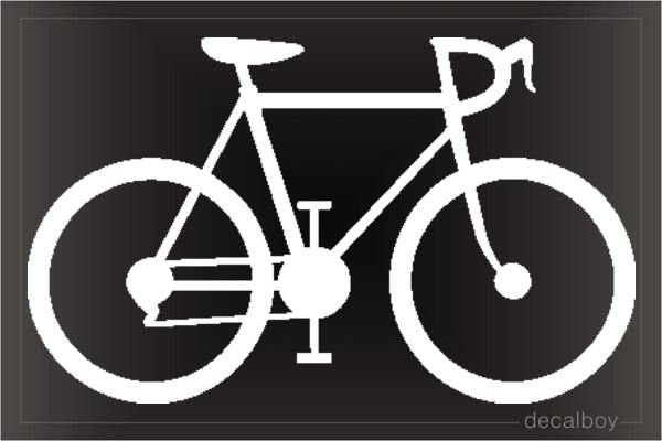 Bicycle 11 Window Decal