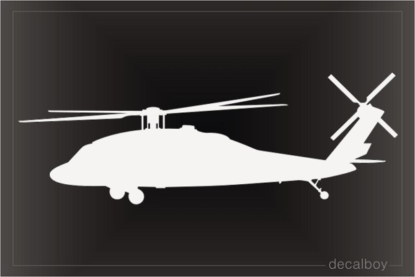Helicopter Hawk Window Decal