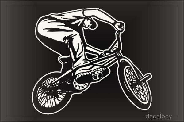 Bmx Rider Car Decal