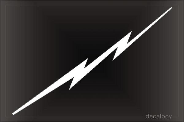 Lightening Bolt Car Decal