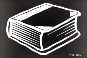 Book Car Decal
