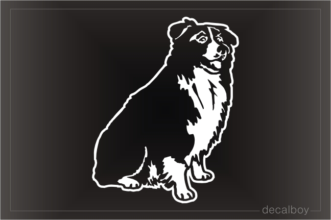Border Collie Car Window Decal