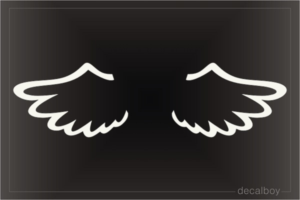 Baby Angel Wings Decal