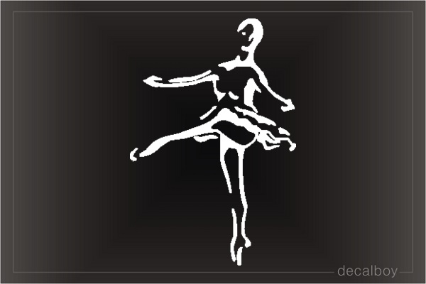 Ballet Dancer 5520 Car Window Decal