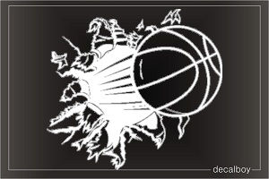Basketball Braking Window Decal