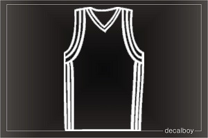 Basketball Jersey Window Decal