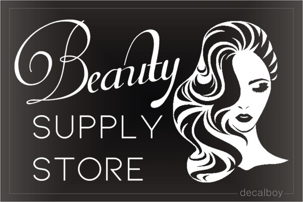 Beauty Supply Store Decal
