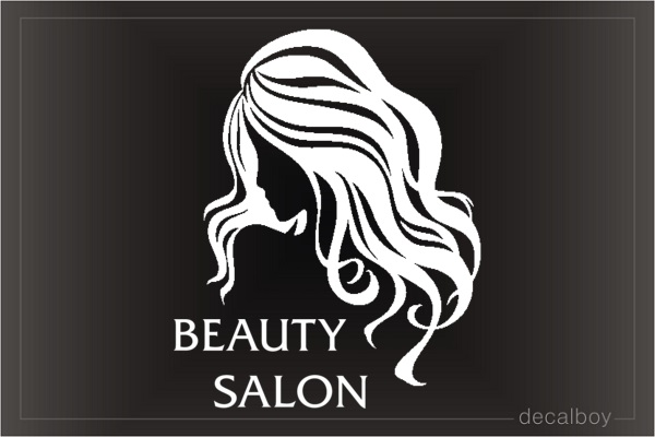 Beauty Salon Storefront Decal