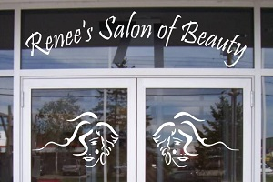 Beauty Salon Logo Signs Vinyl Die-cut Decal
