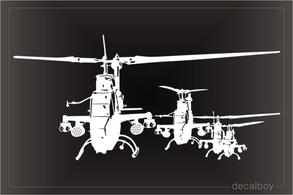 Bell Ah 1 Cobra Attack Helicopters Decal