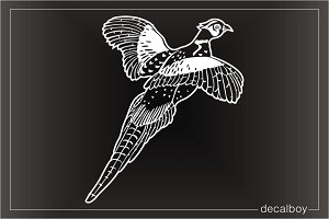 Pheasant Flying Window Decal
