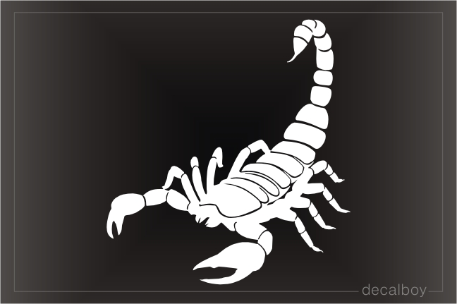 Black Scorpion Decal