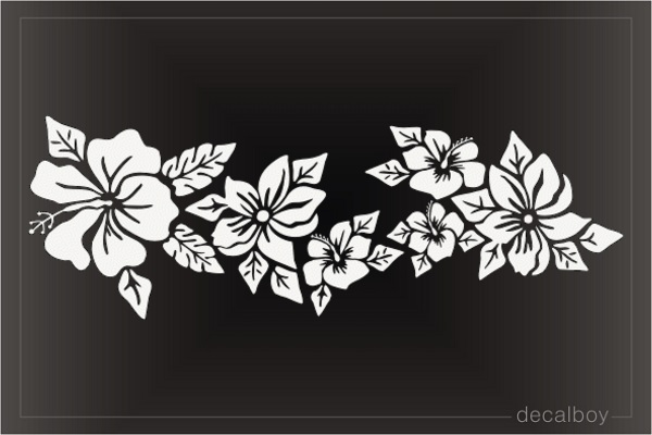 Blooming Hibiscus Flowers Decal