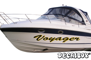 Boat Lettering Vinyl Die-cut Decal