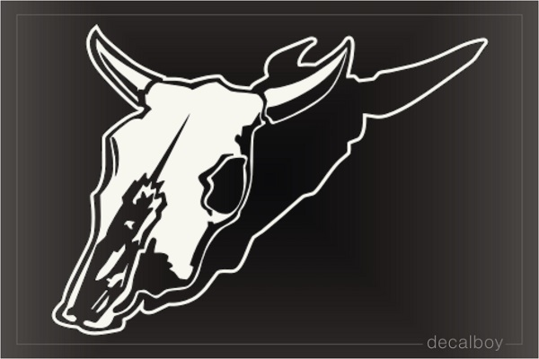 Bull Cow Head Skull Window Decal