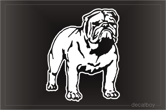 Bulldog English Car Window Decal