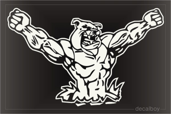 Bulldog 5 Car Window Decal