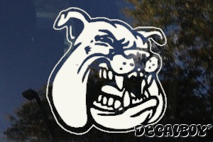 Bulldog Face 456 Car Window Decal