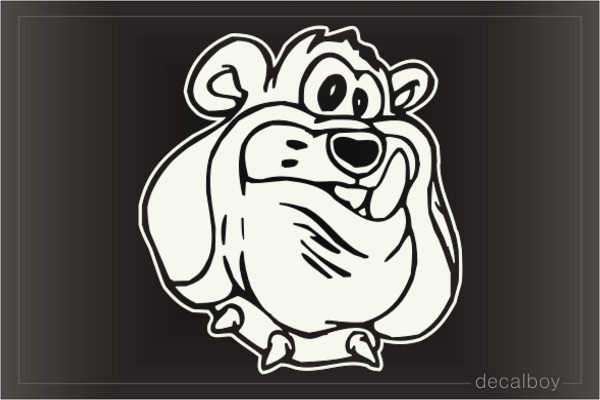Bulldog Face Mad Car Window Decal