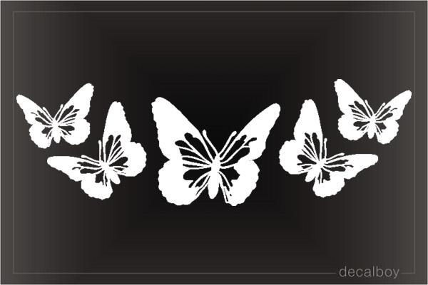 Butterfly Window Decal Sticker A16 Custom Sticker Shop