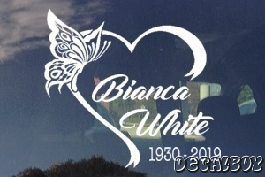 Butterfly In Loving Memory Car Decal