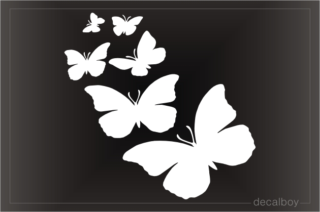 Butterfly Family Decal