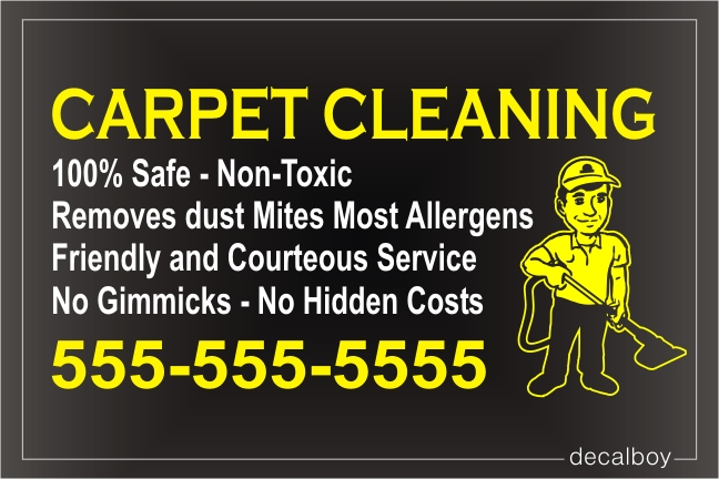 Carpet Cleaning Sign Decal