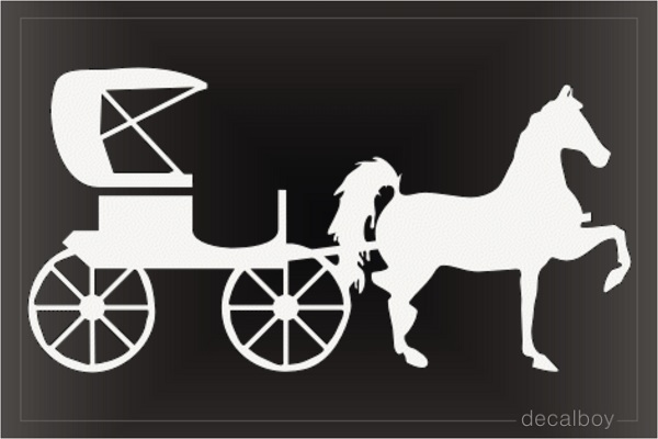 Carriage Car Window Decal
