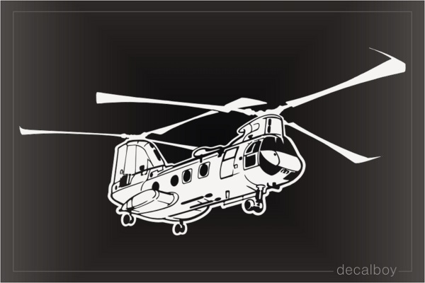 CH 46e Helicopter Car Decal