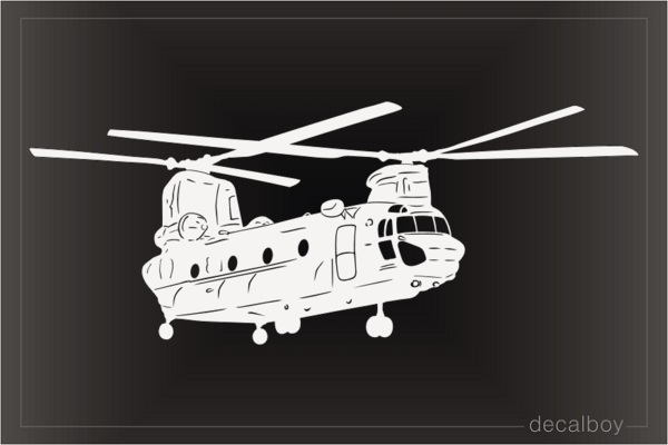 CH 47 Helicopter Decal