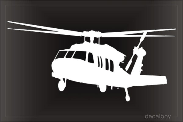 CH 60 Black Hawk Helicopter Decal