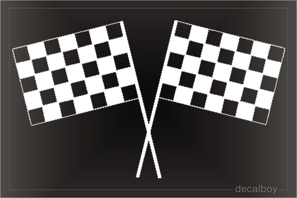 Checkered Flag Window Decal