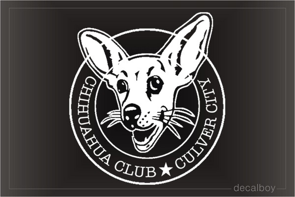 Chihuahua Lovers Club Decal