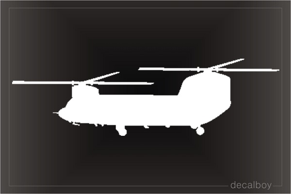 Helicopter CH 47 Chinook Window Decal