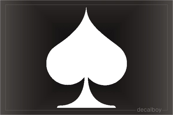 Spade Card Icon Car Decal