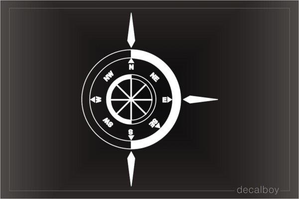 Compass 12 Car Decal