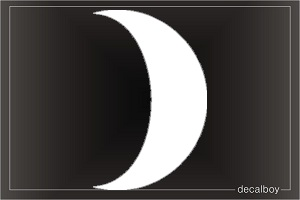 Crescent Car Window Decal