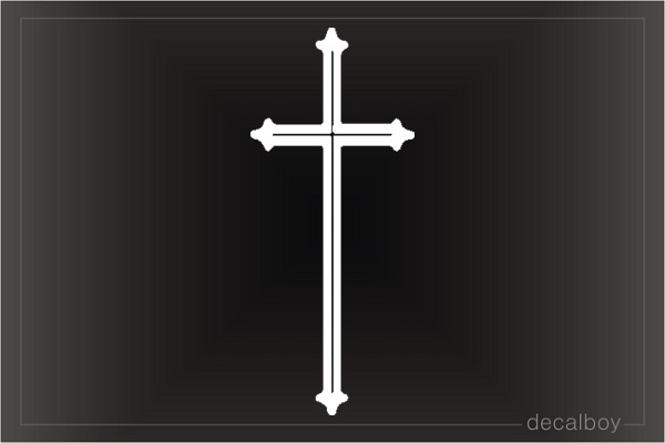 Catholic Cross Window Decal